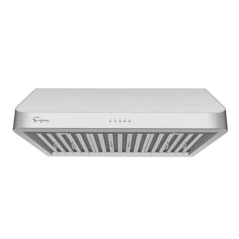 """Empava 30 in. 500 CFM Ducted Under Cabinet Range Hood in Stainless Steel with Permanent Filters and LED Lights - 29.5"""" x 22"""""""