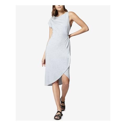 SANCTUARY Womens Gray Sleeveless Jewel Neck Midi Dress Size XL