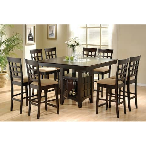 Tolland Tan and Cappuccino 9-piece Counter Height Dining Set