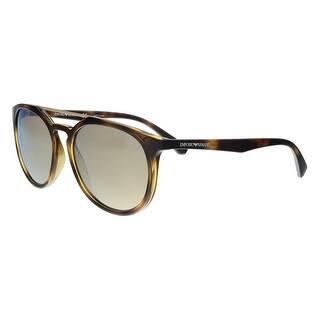 50e07551313 Emporio Armani EA4103 50265A Havana Round Sunglasses - 56-18-140