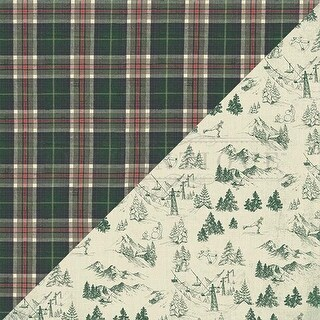 "#5 Heavy Plaid - Solitude Double-Sided Cardstock 12""X12"" - 18/Pack"