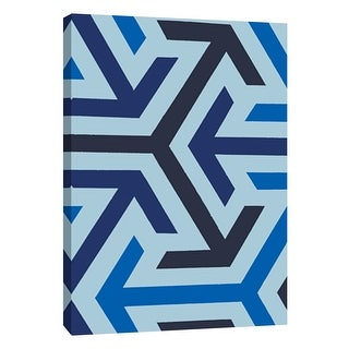 """PTM Images 9-108755  PTM Canvas Collection 10"""" x 8"""" - """"Monochrome Patterns 8 in Blue"""" Giclee Abstract Art Print on Canvas"""