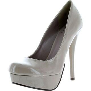 Delicious Women's Jones Round Toe Platform High Heel Pumps