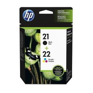 HP 21 Black & 22 Tri-color Ink Cartridges - 2 Cartridges C9351AN C9352AN - black-tricolor