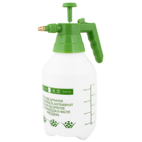 Unique Bargains 2000ML Capacity Green Handle White Body Water Container Plastic Spray Bottle