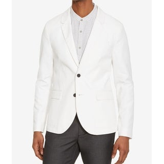 Reaction Kenneth Cole NEW White Mens Size XL Two Button Blazer