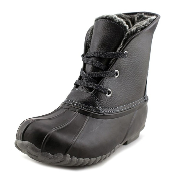Womens Diana Leather Closed Toe Ankle Cold Weather Boots