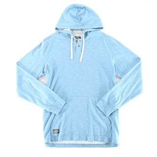 Quiksilver Sandbar Blue Men's Size 2XL Heather Hooded Sweater