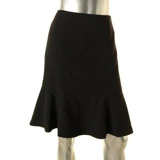 Kasper Womens Petites Geneva Crepe Knee-Length Flare Skirt - 8P