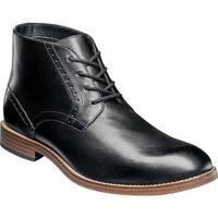 Nunn Bush Men's Middleton Plain Toe Chukka Boot Black Leather