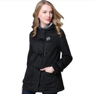 Women's Classic Winter Hooded Trench Jacket Warm Coat