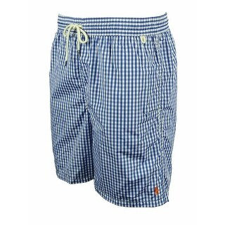 Ralph Lauren Men's Plaid Swim Shorts - Green