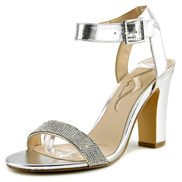 Nina Samiya Women Open Toe Synthetic Silver Sandals