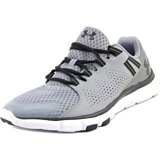 Under Armour Micro G Limitless TR Women Round Toe Leather Gray Running Shoe