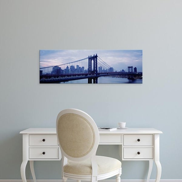 Easy Art Prints Panoramic Image 'Skyscrapers In A City, Manhattan Bridge, NYC, New York City, New York' Canvas Art