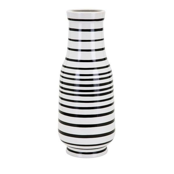 Shop 1825 Black And White Striped Parisa Large Decorative Ceramic