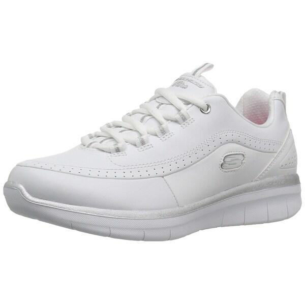 59512b2ed1fd Skechers Sport Women's Synergy 2.0 Wide Fashion Sneaker,White/Silver
