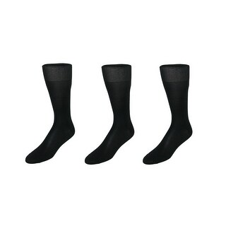 CTM® Men's Silk Over the Calf Dress Sock (3 Pair Pack)