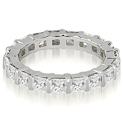 6.00 cttw. 14K White Gold Princess Diamond Eternity Ring