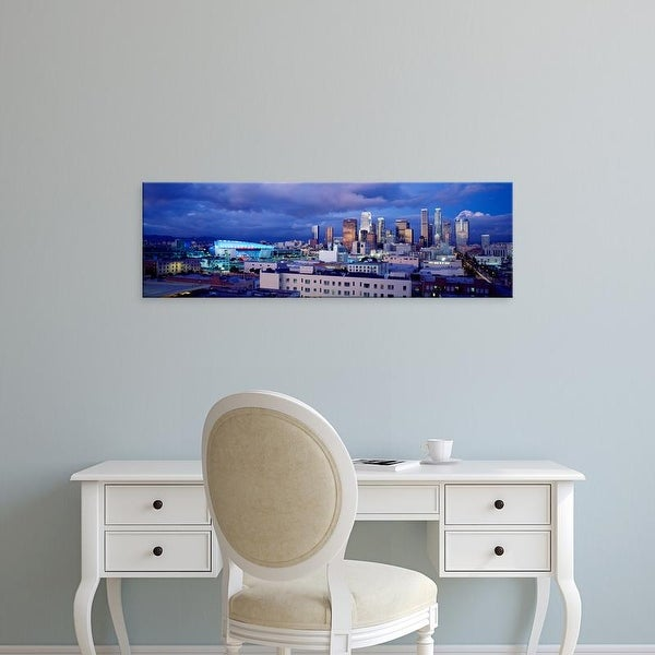 Easy Art Prints Panoramic Images's 'Skyscrapers in a city, Staples Center, City of Los Angeles, California' Canvas Art