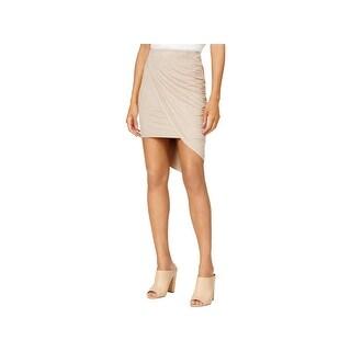 Kensie Womens Wrap Skirt Faux Suede Asymmetric