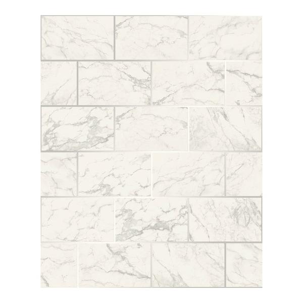 Mirren Off-White Marble Subway Tile Wallpaper - 20.5 x 396 x 0.025. Opens flyout.
