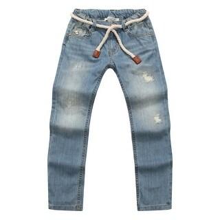 Richie House Boys' Distressed Denim Jeans