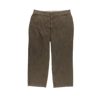 Lee Platinum Label Womens Plus Wide Leg Mid-Rise Fit Trouser Pants - 18wp