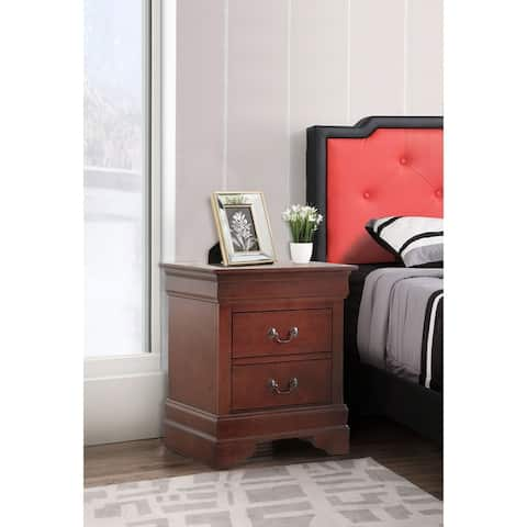 Lewis 2-drawer Wood Nightstand