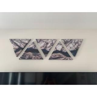 Designart 'Backlit Mineral Macro' Contemporary Triangle Canvas Wall Art Print - 5 Panels