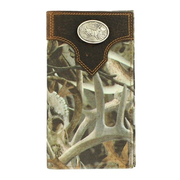 Ariat Western Wallet Mens Rodeo Deer Concho Overlay Bonz - One size