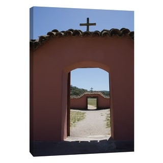 """PTM Images 9-105379  PTM Canvas Collection 10"""" x 8"""" - """"Ca Missions 9"""" Giclee Buildings and Landmarks Art Print on Canvas"""