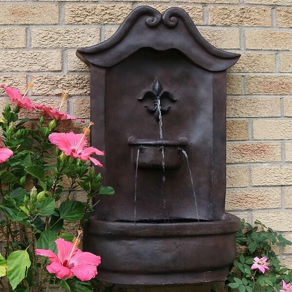 Sunnydaze Flower Solar Wall Fountain - Multiple Colors
