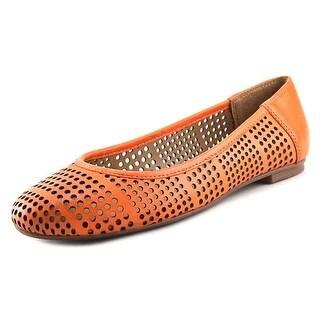 FS/NY Naru Women Round Toe Leather Orange Flats