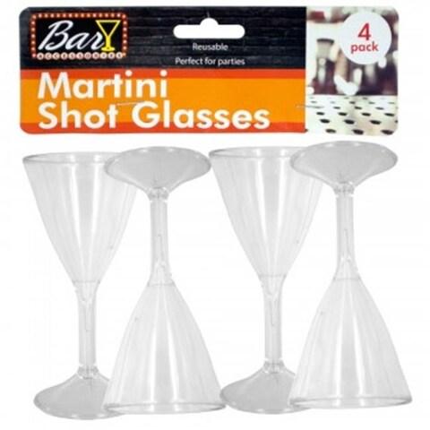 Bulk Buys GR167-18 Plastic Martini Shot Glasses, 18 Piece