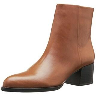 Sam Edelman Womens Joey Leather Stacked Heel Ankle Boots - 8 medium (b,m)