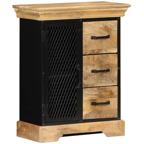 """vidaXL Sideboard 23.6""""x11.8""""x29.5"""" Solid Mango Wood"""