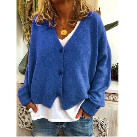 Winter Knitted Wool Blend Casual Long Sleeve Sweater