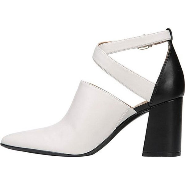 Holland Ankle Strap Heel White