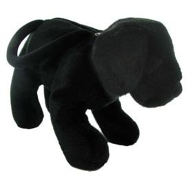 Plush Black Labrador Retriever Purse