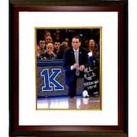 Mike Krzyzewski signed Duke Blue Devils 1000th Win 16x20 Photo Custom Framed 1000th Win 12515 Coach