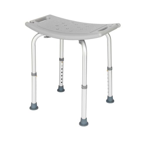 Aluminium Alloy Elderly Bath Chair without Back of a Chair Gray
