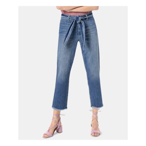 JOE'S Womens Blue Belted Straight leg Jeans Size 27 Waist