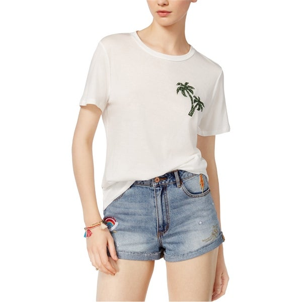 Carbon Copy Womens Palm Basic T-Shirt. Opens flyout.