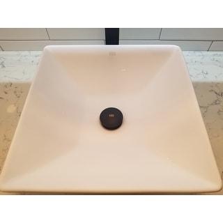 Shop Vigo Matte Black Vessel Bathroom Sink Pop Up Drain And Mounting