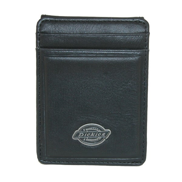 Dickies Men's Leather Front Pocket Wallet with ID Window - One size