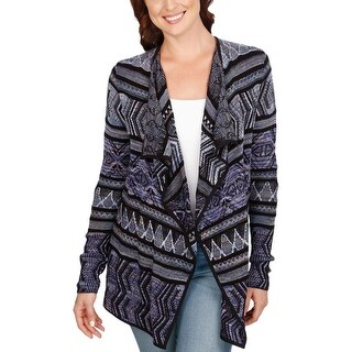 Lucky Brand Womens Cardigan Sweater Open Front Cardigan Multi M