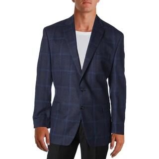 Lauren Ralph Lauren Mens Two-Button Blazer Wool Plaid - 46r