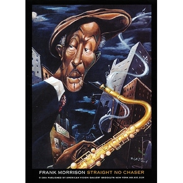 ''Straight, No Chaser'' by Frank Morrison Jazz Art Print (7 x 5 in.)