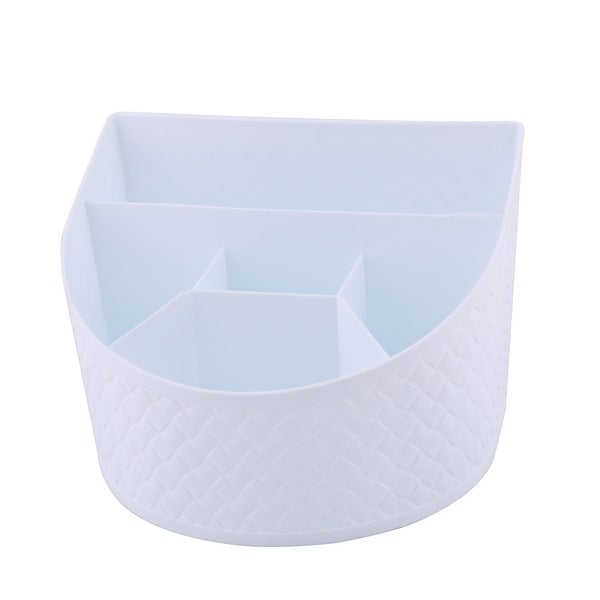 """Kitchenware Plastic 5 Compartments Cutlery Storage Spoon - White - 7.9"""" x 5.5"""" x 5.5""""(L*W*H). Opens flyout."""